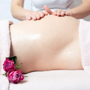 Pregnancy body massage