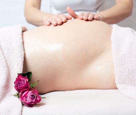 Pregnancy body massage