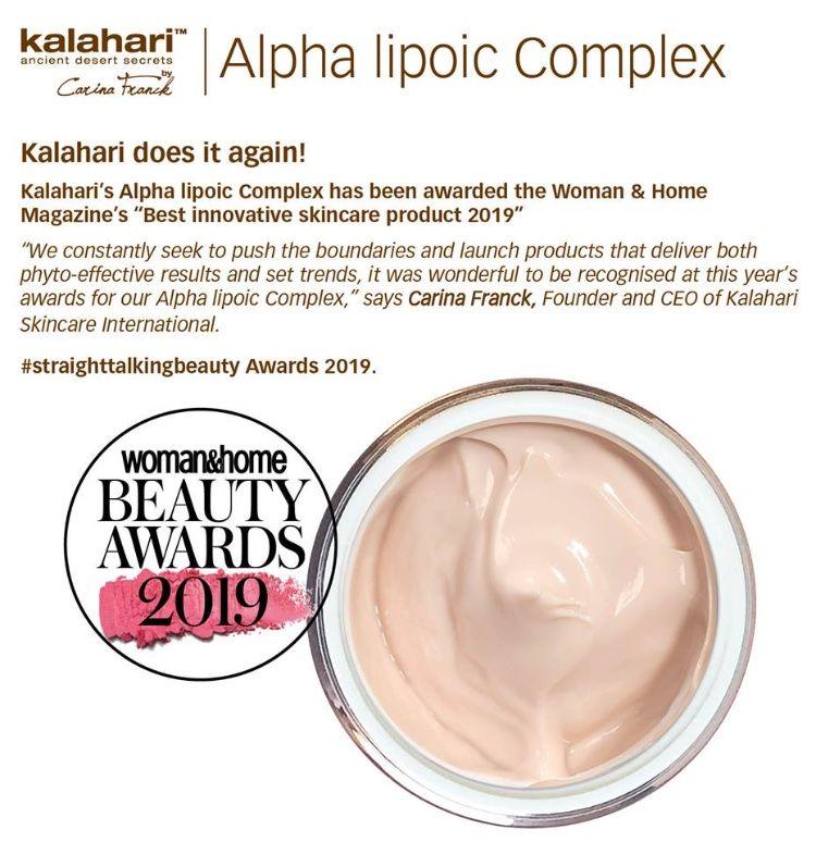 Vanessa Gallinaro Alpha Lipoic Complex Kalahari Stockist London Nimue uk